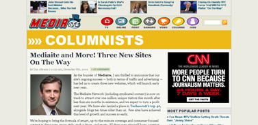 Mediaite and More! Three New Sites On The Way  Columnists  Mediaite