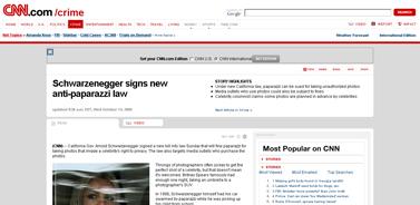 Schwarzenegger signs new anti-paparazzi law - CNN.com