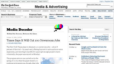Times Says It Will Cut 100 Newsroom Jobs - Media Decoder Blog - NYTimes.com