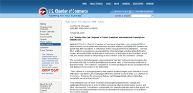 U.S. Chamber Property from Unlawful Use