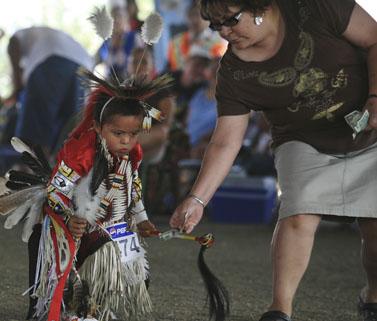 """פסטיבל שבטי בשמורה אינדיאנית בארה""""ב, 2006 (צילום: דורון הורוביץ)"""