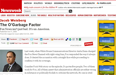 Why Fox News Is Un-American  Newsweek Newsweek Voices - Jacob Weisberg  Newsweek.com