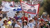הצעדה למען שחרורו של החייל השבוי גלעד שליט, אתמול בצפון הארץ (צילום: גיל יערי)