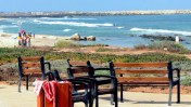 זירת הירצחו של ליאונרד אריק קרפ, חוף תל-ברוך, תל-אביב (צילום: רוני שוצר)