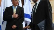 שר החוץ ליברמן (משמאל) עם השליח האמריקאי מיטשל, אתמול בירושלים (צילום: קובי גדעון)