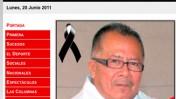 """ההודעה על הרצח, באתר העיתון """"נוטיבר"""""""