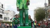 """בובה בדמותו של נשיא ארה""""ב ברק אובמה, בתהלוכת פורים בחולון (צילום: רוני שוצר)"""