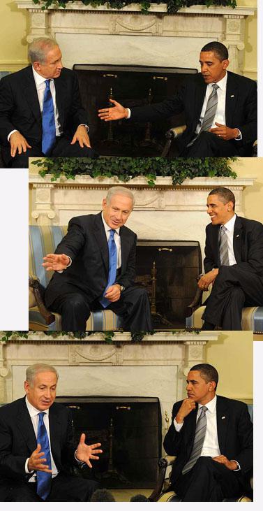 """פגישת אובמה-נתניהו, אתמול בוושינגטון (צילום: משה מילנר, לע""""מ)"""