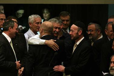 ראש הממשלה היוצא אהוד אולמרט, אתמול בכנסת (צילום: יוסי זמיר)