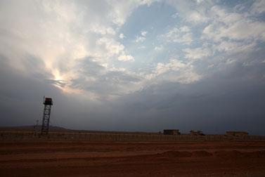 מגדל שמירה בגבול ישראל-מצרים (צילום: ליאור מזרחי)