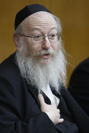 סגן שר הבריאות לשעבר יעקב ליצמן (צילום: מרים אלסטר)