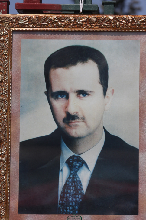 תמונה של הרודן הסורי בשאר אסד (צילום: יוסי זמיר)