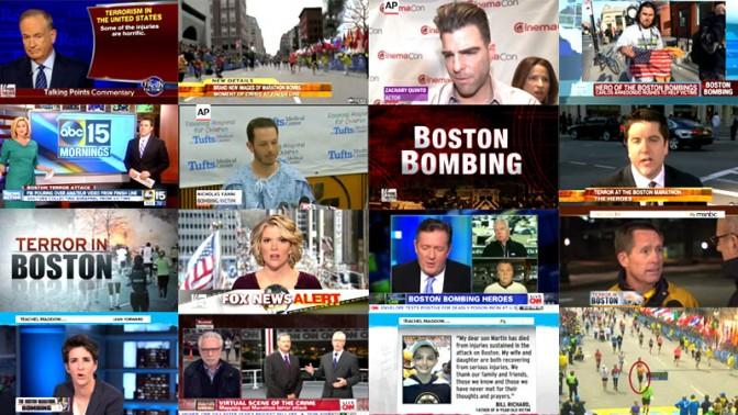 פיגוע בבוסטון, 16.4.13 (מתוך שידורי הטלוויזיה האמריקאית)