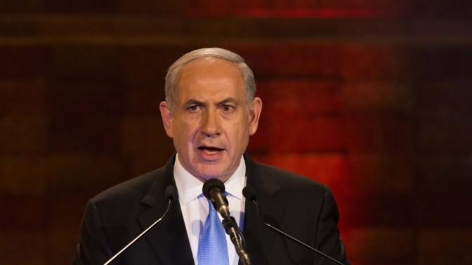 ראש הממשלה בנימין נתניהו בטקס יום השואה אתמול במוזיאון יד-ושם בירושלים (צילום: יונתן זינדל)
