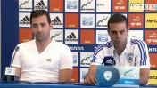 גיא לוזון ודודו דהאן במסיבת העיתונאים (צילום מסך)