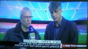 אלי אוחנה ויורם ארבל משדרים בערוץ 2 (צילום מסך)