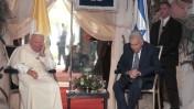 הנשיא עזר ויצמן והאפיפיור, 23.3.2000 (צילום: פלאש 90)