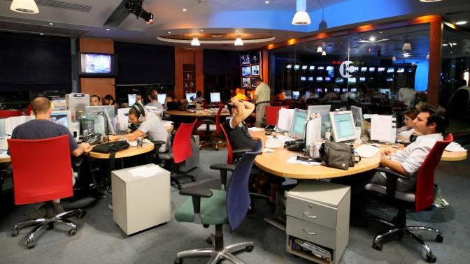 חברת החדשות של ערוץ 10, 18.10.07 (צילום: משה שי)