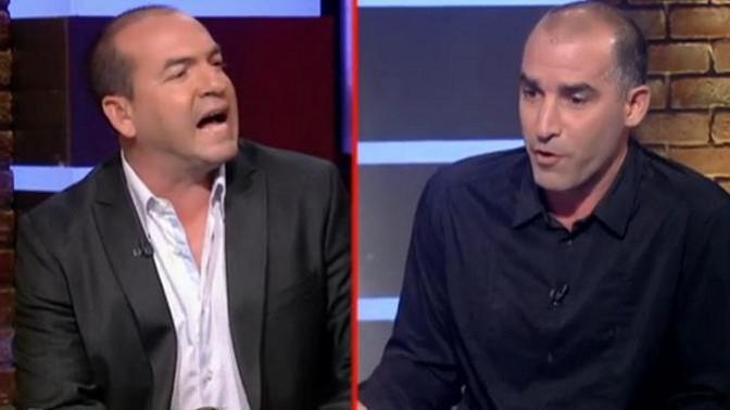 אייל ברקוביץ' מול איציק קורנפיין, השבוע בערוץ הספורט (צילום מסך)