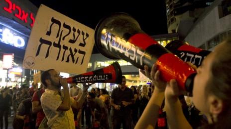 הפגנה נגד תקציב המדינה, 11.5.13 (צילום: פלאש 90)