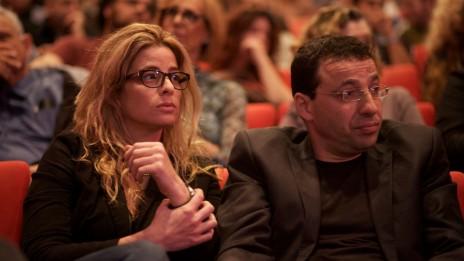 רביב דרוקר וענת גורן. סינמטק תל-אביב, 20.11.2011 (צילום: מתניה טאוסיג)