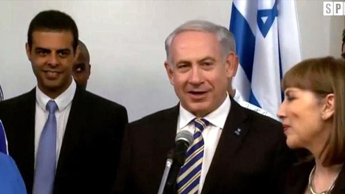 גיא לוזון בקבלת פנים השבוע בלשכת ראש הממשלה (צילום מסך מערוץ הספורט)