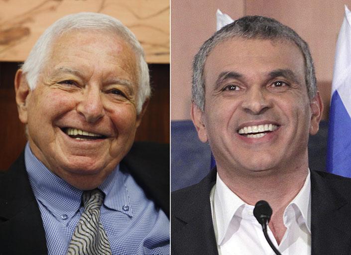 מידידי שחם. שר התקשורת לשעבר משה כחלון (מימין) ומבקר המדינה לשעבר מיכה לינדנשטראוס (צילומים: מרים אלסטר)