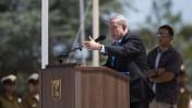 ראש הממשלה בנימין נתניהו בטקס זיכרון לתיאודור הרצל, היום בירושלים (צילום: יונתן זינדל)