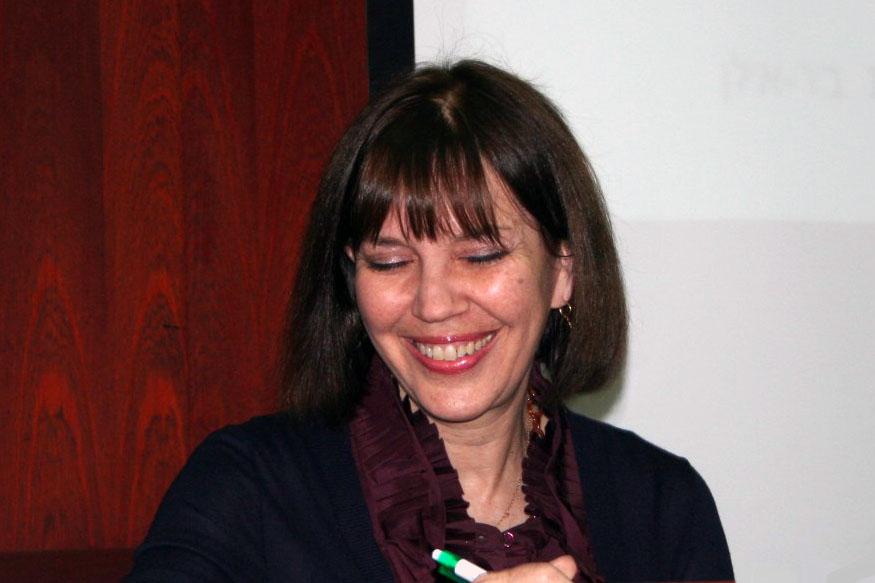 """ג'ודית מילר בכנס לרגל צאת ספרו של ישגב נקדימון """"החיסיון העיתונאי"""", 4.6.13 (צילום: """"העין השביעית"""")"""