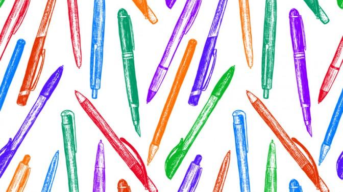 עטים צבעוניים