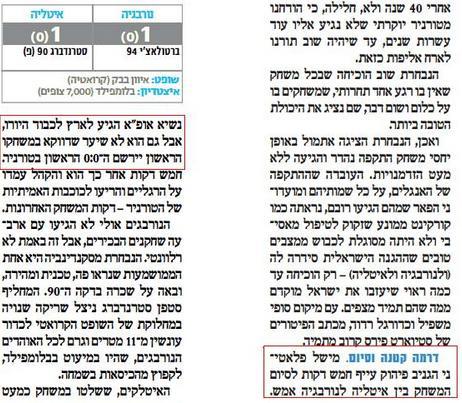 """פלאטיני מפהק ב""""ישראל היום"""""""