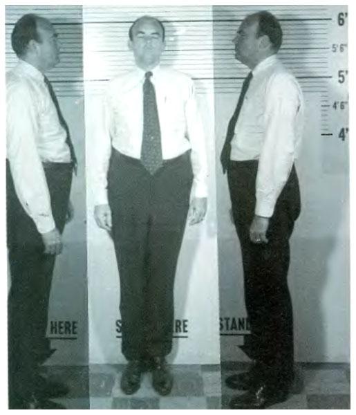צילום משטרתי של ג'ון ארליכמן, יועץ מיוחד לנשיא ניקסון