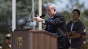 ראש הממשלה בנימין נתניהו נואם בטקס זיכרון לתיאודור הרצל, 27.6.13 (צילום: יונתן זינדל)
