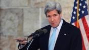 """שר החוץ האמריקאי ג'ון קרי במסיבת עיתונאים בתל-אביב, 30.6.13 (צילום: מתי שטרן, שגרירות ארה""""ב)"""
