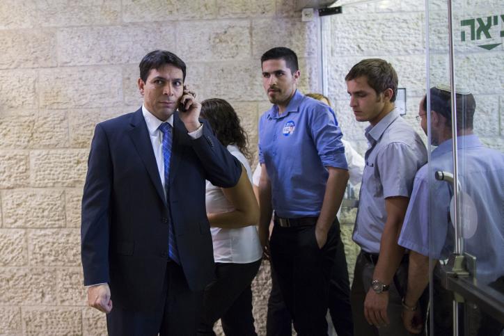סגן שר הביטחון דני דנון, אתמול (צילום: יונתן זינדל)