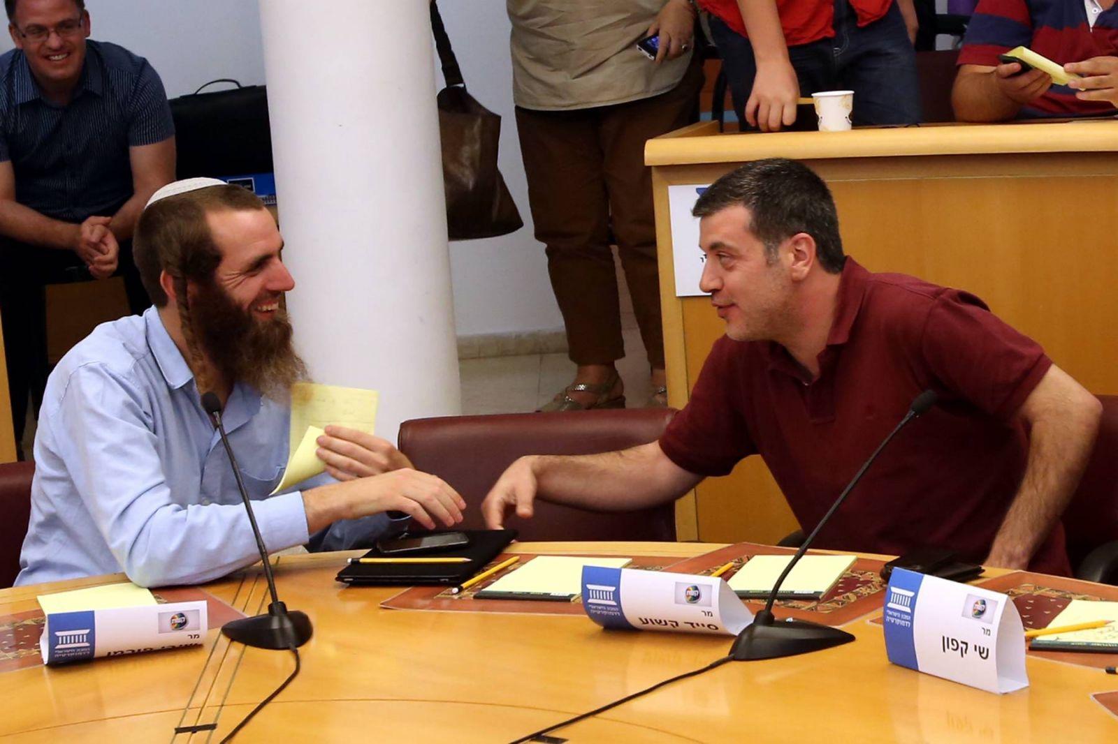 סייד קשוע ושיבי פורמן בכנס במכון הישראלי לדמוקרטיה (צילום: יוסי זמיר)