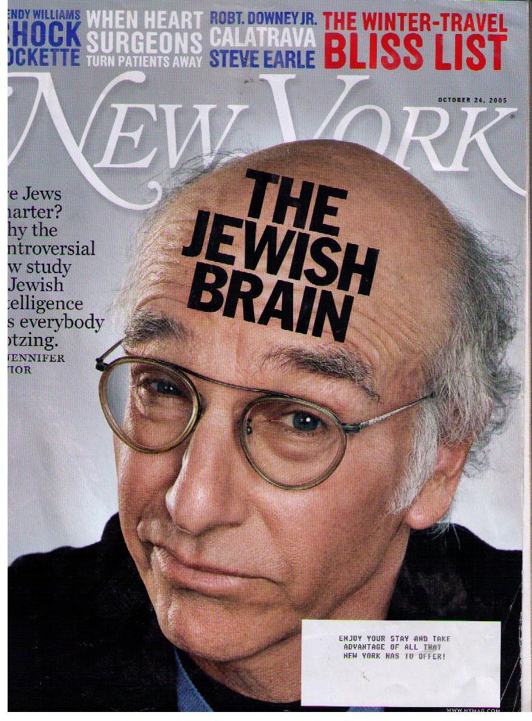 """הקומיקאי לארי דייוויד על שער ה""""ניו-יורק מגזין"""""""