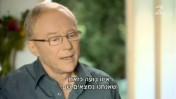 """הסופר דויד גרוסמן מתראיין אצל אילנה דיין ב""""עובדה"""", ערב בחירות 2013 לכנסת (צילום מסך)"""