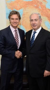 """ראש ממשלת ישראל בנימין נתניהו וד""""ר מהמט אוז (צילום: קובי גדעון, לע""""מ)"""