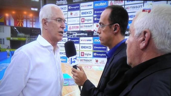 פיני גרשון וניב רסקין מראיינים את אריק שיבק בערוץ הספורט