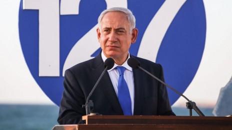 ראש הממשלה בנימין נתניהו נושא נאום בטקס של חיל הים. חיפה, 11.9.13 (צילום: אבישג שאר-יישוב)