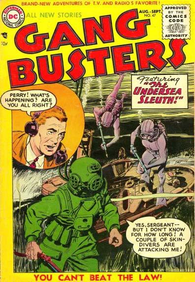 """עיבוד לקומיקס של סדרת הרדיו """"Gang Busters"""" (ג'ון פרנטיס, DC Comics, אוגוסט-ספטמבר 1955)"""