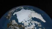 תכסית הקרח הארקטית, 12.9.13 (צילום:NASA Goddard's Scientific Visualization Studio/Cindy Starr)