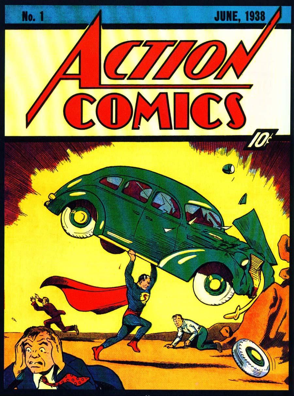 ההרפתקאה הראשונה של סופרמן בהוצאת DC Comics, יוני 1933