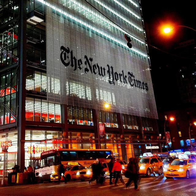 """משכנו הנוכחי של ה""""ניו-יורק טיימס"""" (צילום: פוטוגראופיס, רשיון cc-by-nc-nd)"""