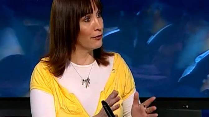 העיתונאית שרי רוט, בערוץ הכנסת (צילום מסך)