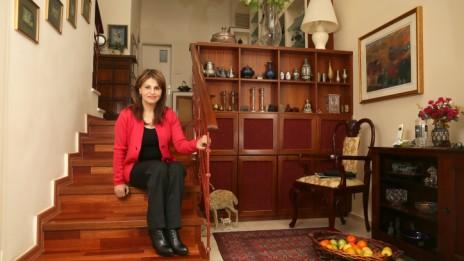 דליה איציק בביתה, 2.1.13 (צילום: נתי שוחט)