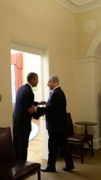 """ראש הממשלה בנימין נתניהו ונשיא ארה""""ב ברק אובמה, 30.9.13 (צילום: קובי גדעון, לע""""מ)"""