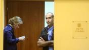 שרת המשפטים ציפי לבני מחוץ לישיבת הממשלה, 6.10.13 (צילום: מרק ישראל סלם)