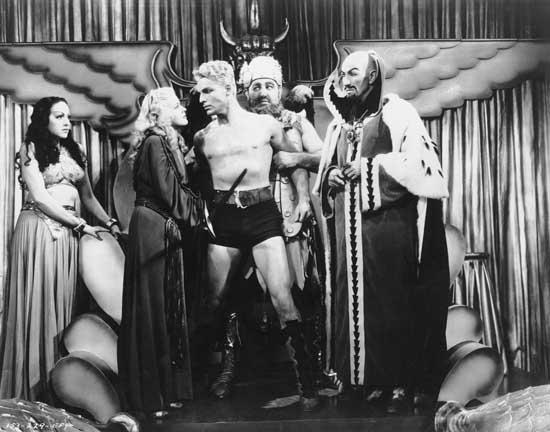 """""""פלאש גורדון וכוכב המוות"""", מתוך סדרת הטלוויזיה שיצאה ב-1954"""
